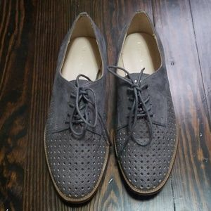 Grey women's oxfords, 6.5